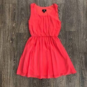 Pretty Coral Chiffon Dress
